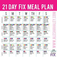 21 day fix meal plan alesha haley 21dayfix eatclean beach body t