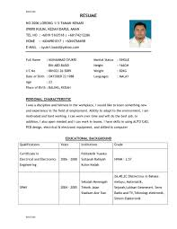 Example Of Resumes For Jobs Resume Template Good Sample Resume Diacoblog Com