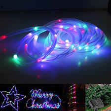 led solar rope lights waterproof 7m 50 leds portable with light sensor outdoor rope lights ideal for wedding party battery powered led string