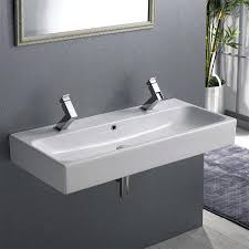 wall hung bathroom sinks rectangular white ceramic wall mounted or vessel bathroom sink small wall mounted