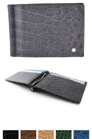 nike men s alligator slim wallet in out with money clip