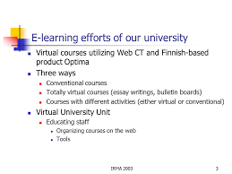 irma e learning in jyvaskyla university and a proposal for e  3 irma 20033 e learning