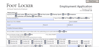 job application questions foot locker application pdf print out