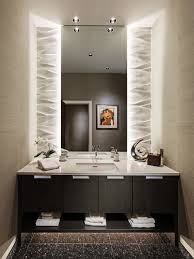 powder room bathroom lighting. inspiration for a small contemporary beige tile and ceramic porcelain floor brown powder room bathroom lighting w