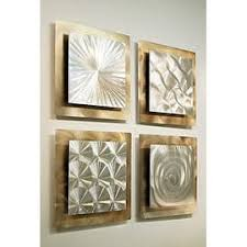 statements2000 set of 4 gold silver metal wall art accent by jon allen phenomena on rose gold wall art ebay with shop metal art discover our best deals at overstock