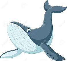 happy blue whale cartoon stock vector 61197977
