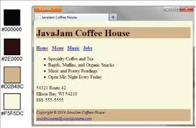 JavaJam home page   YouTube Figure JavaJam two column page layout