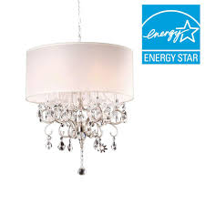 ore international 6 light crystal silver chandelier