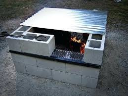 cinder block outdoor fireplace cinder block fire pit fire pit ideas for your backyard concrete block