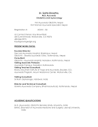 Cv Resume Format For Doctors Medical Doctor Resume Sle Ob Gyn