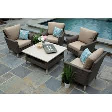 canopy noble 5 piece resin wicker patio