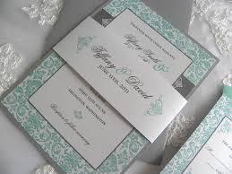 Ivory Tiffany Blue Gray Invitation Aqua Tiffany Blue And Pewter