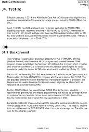 Medi Cal Handbook Page B Pdf Free Download