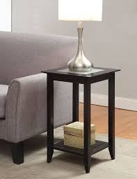 amazoncom convenience concepts carmel end table black kitchen