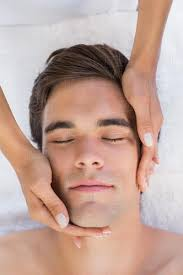 Free man facial massage image