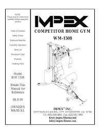 100 [ total gym owners manual ] weider power guide home gym total gym ultra manual at Total Gym Parts Diagram