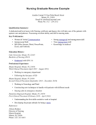 Nursing Resume Examples With Clinical Experience Writing New