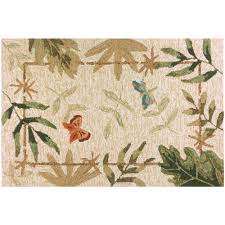 erflies and dragonflies beige 2 ft x 3 ft indoor outdoor area rug