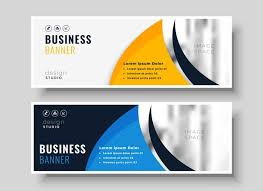 Business Banner Design Abstract Banner Design In Creative Style Download Free Vector Art