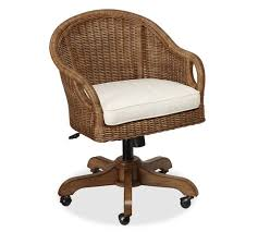 ... Ingenious Ideas Wicker Office Chair Excellent Wicker Office Chair  Wingate Rattan Swivel Desk ...