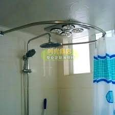 circle shower curtain rods delighted half circle shower curtain rod images bathtub for round shower curtain