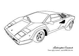 Easy Lamborghini Coloring Pagesll L