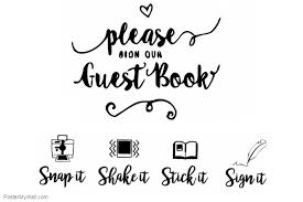 Wedding Guestbook Sign Template Postermywall