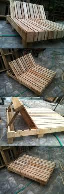outdoor pallet furniture ideas. 21. An Adjustable Recliner Made For Two Outdoor Pallet Furniture Ideas