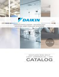 Includes Daikin Ductless Mini Splits Light Commercial And