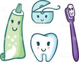 Ensemble De Vecteur De Dessin Anim Dentifrice Brosse Dents Soie