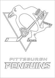 Small Picture NHL worksheets for kids penguins logo Colouring Pages party