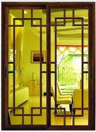 sliding aluminum door with glass panel