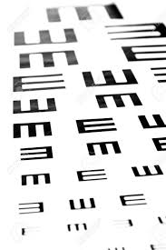 Photography Test Chart Eyesight Test Chart On White Background Close Up