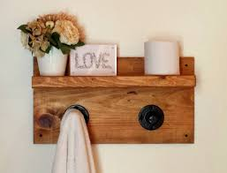 Pipe Shelf, Dorm Decor, Wall Shelf, Rustic Floating Shelf, Towel Rack,  Bathroom Shelf, Wood Shelf, Bathroom Storage, Shabby Chic Decor