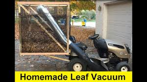 riding mower leaf vacuum. Simple Riding How To Build A Homemade Leaf Vacuum For 50  DIY With Riding Mower