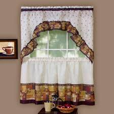 Kitchen Tier Curtains Sets Fleetwood Kitchen Curtains Set Of 2 With Valence Walmartcom
