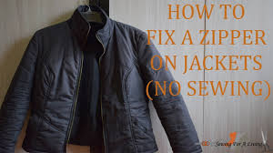 how to fix a zipper on jackets no sewing