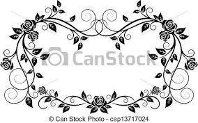 装飾用 フレーム 花 バラ