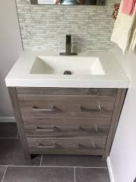 Home Depot Remodeling Bathroom Enchanting Glacier Bay Woodbrook 484848 In W Bath Vanity In White Washed Oak