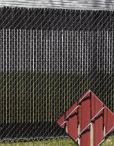Perfect Chain Link Fence Slats Ez To Install Self Locking In Decorating Ideas