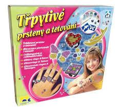 Mac Toys Mac Toys Prsteny A Tetování Třpytivé Pro Dívky Kreativní