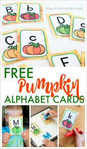 alphabet picture cards free pumpkin alphabet cards and 5 literacy activities to use them