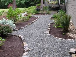 easy and cheap crushed rock pathway rock edging hardscapes easy and cheap crushed rock pathway rock edging