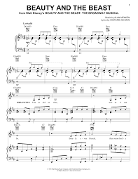 beauty and the beast sheet music beauty and the beast sheet music direct