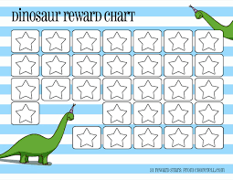 Cute Chart Template Free Printable Dinosaur Reward Charts Template Sample For