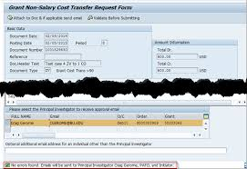 Create A Non-Salary Cost Transfer Form Zgm_Cst_Req
