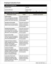 Performance Review Forms Free Employee Performance Review Forms Excel Pinterest