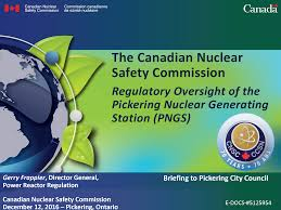 paper presentation on general topics space science society home  presentations canadian nuclear safety commission presentation by gerry frappier to pickering city council