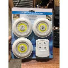 Bộ 3 Đèn LED Dán Tường Cao Cấp ❤️HÀNG LOẠI 1❤️ Đèn Led 3 Bóng Dán Tường Có Điều  Khiển Từ Xa Chính Hãng ❤️FREE SHIP❤️ - Bóng đèn Nhãn hàng No brand