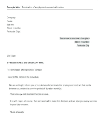 Sample Of A Termination Letter To An Employee Termination Of Contract Letter Template Download Employee Contract